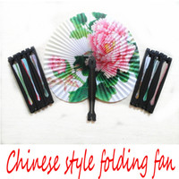 Paper chinese fans - folding fan for travel The Brazilian World Cup Fans products Chinese style Retro folding fan Retro folding fan