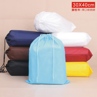 Wholesale 2014 New Fashion cm Fabric Travel Storage Bags Travel Pouch Groceries Bag Portable Dustproof Drawstring Shoes Bags MM27