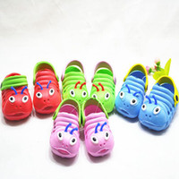 Unisex baby worm - hot sale New Kids summer Shoes Sandals children summer sandals baby carpenter worm hole shoes Kids casual shoes pairs Melee