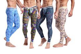 Wholesale thermal underwear long johns pants thermo clothing warm trousers Mens Cotton Pajama Bohemia Bottoms Bodysuit Keep Zentai Leggings