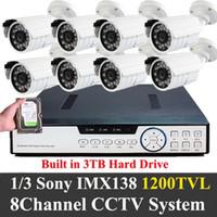 Wholesale Built in TB CCTV DVR ch TVL SONY IMX138 sensor P2P Plug Play video surveillance Security System HDMI Audio Outdoor cameras