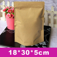 aluminium laminated - High quality Standup zip lock bag cm Kraft Paper laminated with aluminium foil inside for snack amp food