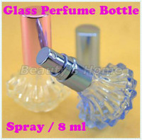 Wholesale 8ml spray perfume bottles glass empty small perfume refillable atomizer bottle container