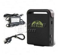 TK102B 3.7V GPS Tracker Free shipping GPS Tracker TK102B 4bands SD card shock sensor sleep function+Hard Wired Car Charger+Car cigarette lighter charger