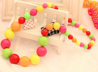 Wholesale New Kids Fashion Jewelry Children Accessories Girls Fashion Colorful Candy Color Necklace Girls hair accessories Headband