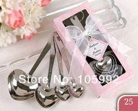 Wholesale 10sets Heart Spoon Set Love Coffee Lovers Spoon Set Wedding Small Gift
