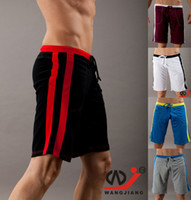 Wholesale home shorts Pocket pyjama men s casual trousers GYM Run sports Middle YOGA wear Male beach boardshorts half pants
