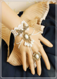 Wholesale Gothic lolita palace party jewelry lace charm bracelets wristband rings fashion bride jewelry Whitney Houston
