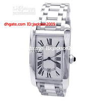 Men's american auto luxury - Hot Selling Lowest Price Top Quality New woman American White Gold Bracelet Watch Tank Sapphire Crystal woman Watches Stainless Steel