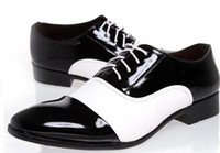 Lace-Up Men Summer 2014 British business men's leather shoes dress shoes men the spring and autumn period and the authentic wingtip shoes black white >>trend