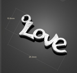 Wholesale Bulk Zinc Alloy Antique Silver Love Charms Pendant Necklace Crafted DIY Jewelry Findings A13260