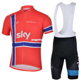 Wholesale SKY Cycling Jersey Romper Shorts Cycling Bike Kit bicycle jersey
