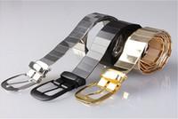 Wholesale Dashing All match men s metal alloy belt for men strap pin buckle decoration belt women s strap gold belt color