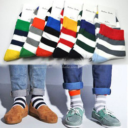 Wholesale 6 Pairs Men s Sport Multi Color stripe Design Fashion Dress Socks