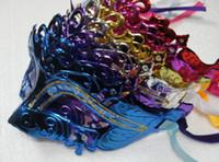 Wholesale fashion mask party masquerade colorful plated han dmake mask Venetian Masquerade ball mask