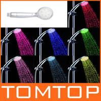 Wholesale 2 Adjustable Mode Handheld Color LED Shower Head Sprinkler