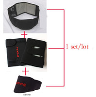 Wholesale Tourmaline Magnetic Therapy Belt Lumbar Neck amp Knee amp Back Waist Support Brace Double Banded Adjustable Pad Set