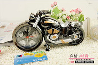 Wholesale Newest Motorcycle Cool model Creative fashion Quartz Alarm Clock Creative home gifts with colorful box