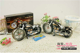 Wholesale Motorcycle model Creative fashion Quartz Alarm Clock Creative home gifts