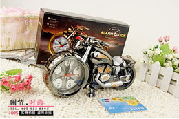 Wholesale Newest Motorcycle model Creative fashion Quartz Alarm Clock Creative home gifts with colorful box