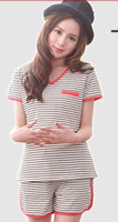 Wholesale 2014 New Arrival Summer Nursing Pajamas Nursing Clothes Motherhood Clothing Set Maternity Nightwear