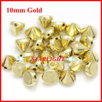 Wholesale pack mm ABS Golden Plastic Spikes Studs Rivets Beads hand Sew on nailhead DIY for Clothes jewelry