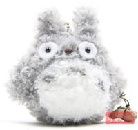 achat en gros de poupée cadeau d'amour-Mini Peluches amour Peluche My Neighbor Totoro Doll Keychain Le meilleur cadeau pour fille 9CM gratuit gros d'expédition