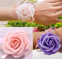 Wholesale New Arrival Wedding Accessory Bridal Bridesmaid Favors CM PE Wrist Flowers Decal
