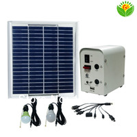 Wholesale Portable Solar power kit w for outdoor lighting camping small solar power system with rechargeable battery USB mobile charger