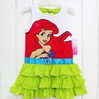ariel clothing girls - The Little Mermaid Ariel Cartoon Baby Girls Dress Kids Clothing Children Tops Cotton Princess Casual Party Dresses Costume