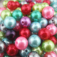 Pearl cream  Free shipping!Cheap 16mm white ,cream,colorful,Mixed Color Faux Acrylic Pearl Beads Chunky Beads ,jewelry making