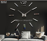 Wholesale Hot Sale MAX3 oversized living room wall clock creative wall clock watch Modern Art personality