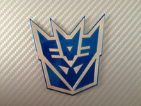 autobot symbol - Hot Selling Autobot and Decepticon Symbol D Chrome Mirror Car Sticker Decor Individuality Transformers Car Badges a