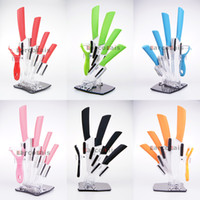 ceramic knife - High Quality Larcolais Ceramic Knife Sets quot quot quot quot inch Peeler Holder Colors Can Select