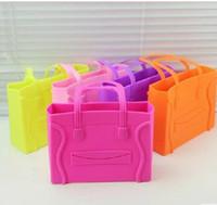 Coin Purses silicone handbags - NEW Women Fashion Candy Color Silicone Fashion Bag Jelly Ladies Silicone Handbag