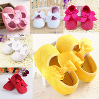 Wholesale 2014 New Brand Hot Sale Fashion Soft Cotton Fabric Newborn Toddler Baby Infant Soft Kids Sneakers Sole Shoes First Walkers Pink White Yellow