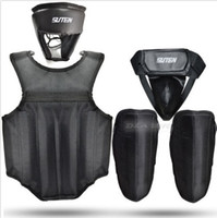 Wholesale 4PCS Kit Set Boxing MMA Martial Art Headgear Chest Leg Groin Cup Protector Guard