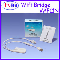 Wholesale Vonets VAP11N RJ45 WIFI Bridge Wireless Bridge For Dreambox Xbox PS3 PC Camera TV Wifi Adapter with Retail Box