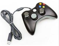 Precio de Blanco xbox palanca de mando-Palanca de mando atada con alambre negra del regulador del juego de Joypad Gamepad para el regulador de XBOX 360 ENVÍO RÁPIDO