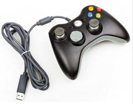 Palanca de mando atada con alambre negra del regulador del juego de Joypad Gamepad para el regulador de XBOX 360 ENVÍO RÁPIDO desde blanco xbox palanca de mando fabricantes