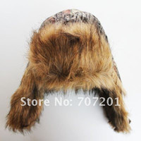 Wholesale Outdoors Realtree Hunting Camo Hat Browning Bomber Fur Hat XL For Winter
