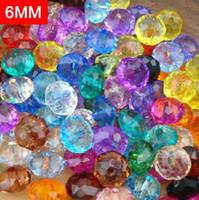 Precio de Mixed crystal beads-¡Envío gratis! Granos cristalinos de DIY perlas de cristal de la joyería / 6mm color mixto cristalino claro del grano de cristal / Ronda de faceta