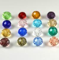 Precio de Mixed crystal beads-¡Envío gratis! Granos cristalinos de DIY perlas de cristal de la joyería / 8mm color mixto cristalino claro del grano de cristal / Ronda de faceta