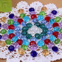 Precio de Mixed crystal beads-¡Envío gratis! DIY joyas de perlas de cristal / 10mm mezcló los granos de cristal / Ronda de faceta color cristalino del grano de cristal