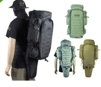 Wholesale Tactical army big capacity outdoor travel Molle Extended Full Gear Dual Backpack Bags for Airsoft Rifle