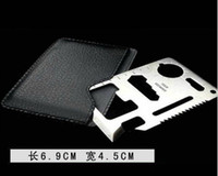 Wholesale maxi freeshipping Multi function tool saber card universal outdoor lifesaving card knife
