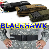 Wholesale man Blackhawk military belt black army green sand camo canvas belt police solder tactical waistband gridle Free ship