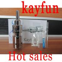 Wholesale Kayfun Kits Kayfun Lite Atomizer cartomizer for ego Electronic Cigarette Kits e cigarette Kits the Russia DIY kits with Special Box