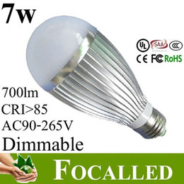 Replace 60W Halogen Lamp 7w 700lm E27 GU10 E14 Led Lamp Bulbs Ball Bulb Lamp Light Warm   Cold White CRI>85 CE&ROHS UL SAA CE
