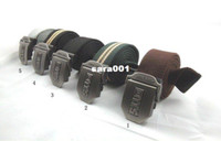 Wholesale men lady canvas belt western fabric belt men women webbing canvas belt